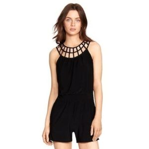 WHBM cages neck stretch romper